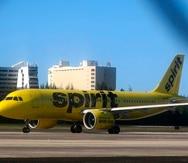 Spirit Airlines canceló hoy 394 vuelos.