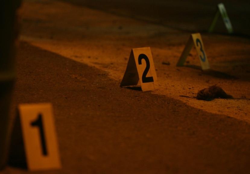 Investigación de una escena del crimen.