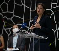 La candidata a la Cámara por Acumulación del Movimiento Victoria Ciuadana, Eva Prados Rodríguez.