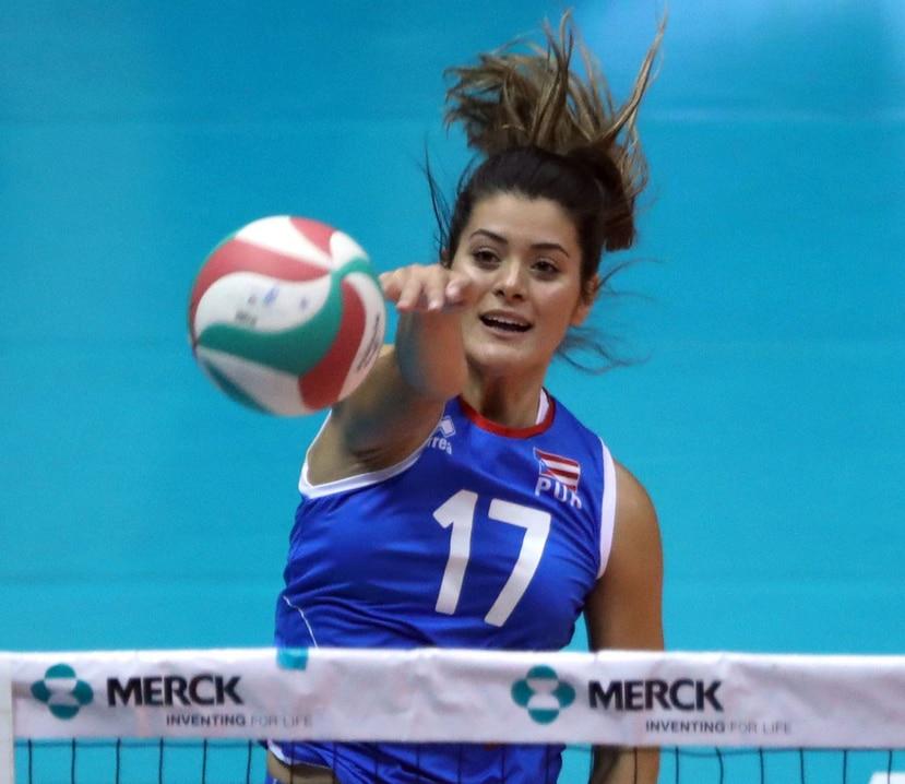 Paulina Prieto Cerame fue la mejor anotadora de Puerto Rico con nueve puntos.  (GFR Media)