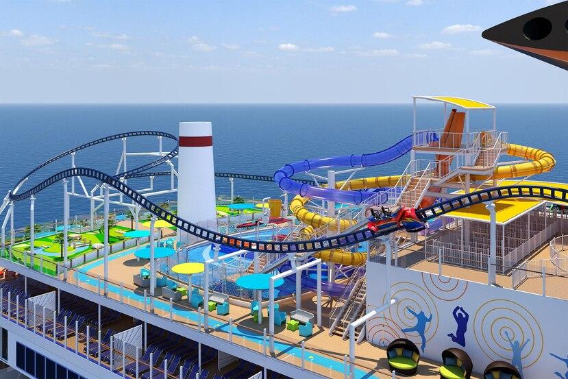 Los pasajeros sentirán la emoción de una montaña rusa combinada con una vistas al mar impresionantes de 360 grados. (Suministrada)
