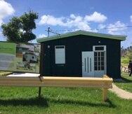 La Casa Verde, en MAunabo, ha servido de oficina, centro comunitario y hospedaje para la comunidad. (Suministrada)