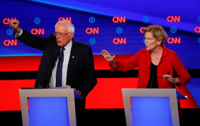 Senators Bernie Sanders and Elizabeth Warren. (AP)