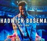 Una imagen del fallecido actor Chadwick Boseman en una pantalla durante un segmento en su honor en la ceremonia de los Premios MTV.