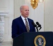 El presidente de Estados Unidos, Joe Biden, da detalles sobre la gestión contra el COVID-19 desde la Casa Blanca.