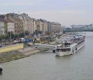 El AmaSonata listo para empezar travesía desde Budapest.