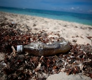Desechos plásticos que se observan con regularidad en las playas.