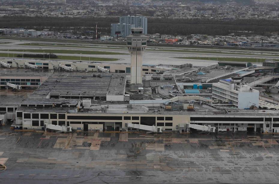 El aeropuerto internacional Luis Muñoz Marín.