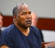 O.J. Simpson  en una audiencia probatoria en el Tribunal de Distrito del Condado de Clark en Las Vegas en 2013. (AP)