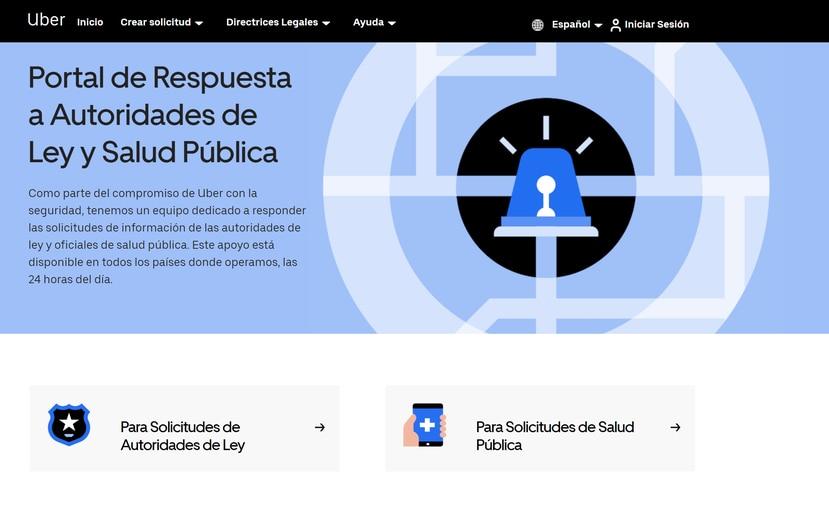 Uber lanzó el portal LERT.UBER.COM para apoyar el rastreo de contactos de las autoridades sanitarias.