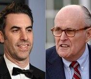 Sacha Baron Cohen (izquierda) y Rudy Giuliani.