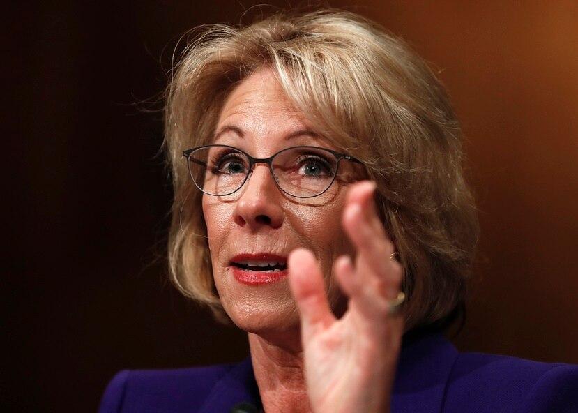 La secretaria de Educación de Estados Unidos Betsy Devos.