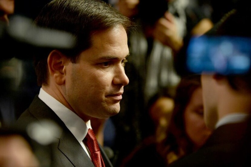According to Hedge Clippers, Andrew Herenstein, the co-founder of the Monarch Alternative Capital hedge fund, helped organize a fundraising event for Rubio and donated $2,700. (AFP)