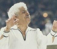 El director musical y flautista dominicano Johnny Pacheco.