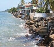 La costa de Rincón es una de las más afectadas por erosión en Puerto Rico.