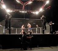 La UFC regresó con una cartelera sin fanáticos en Florida. (AP)