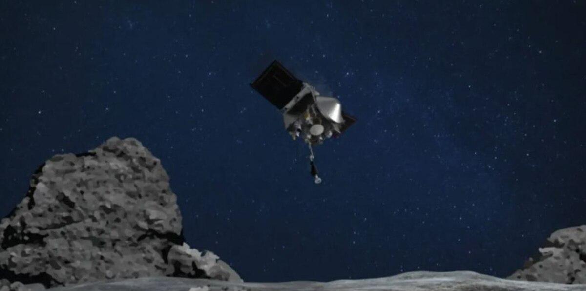 Sonda de la NASA entra en contacto con un asteroide en misión histórica