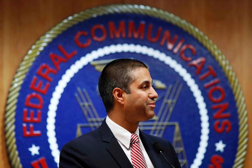 En la foto está Ajit Pai, presidente de la FCC. (AP)