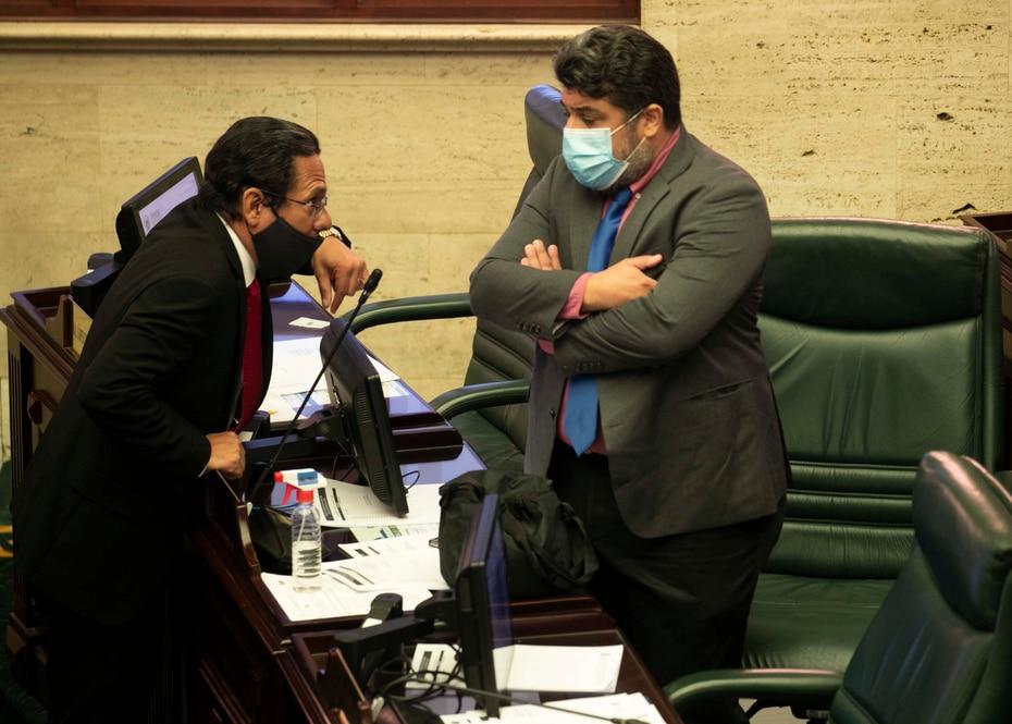 Vega Ramos argumentó que la gobernadora debe vetar la medida. En la foto, los representantes Jesús Santa y Luis Vega Ramos.