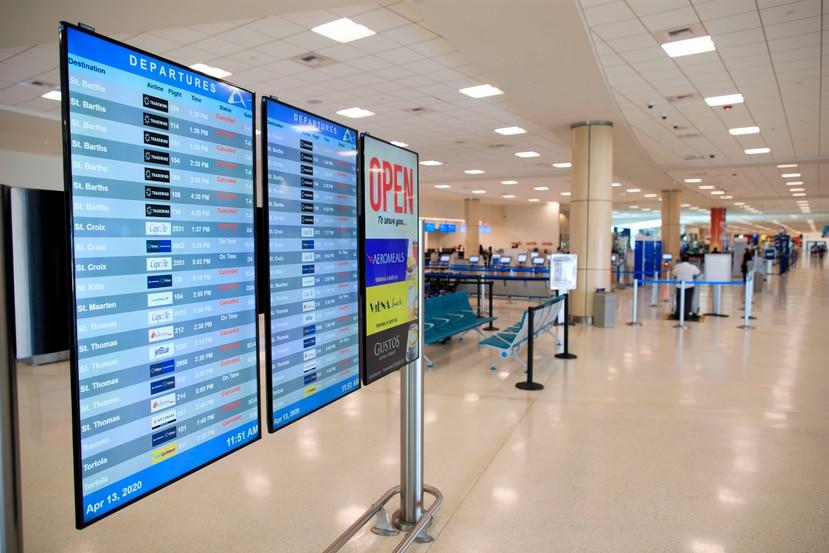 Terminal B del Aeropuerto Internacional Luis Muñoz Marín.