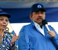 El presidente nicaragüense Daniel Ortega y su esposa y vicepresidenta del país, Rosario Murillo. (AP foto/Alfredo Zúñiga, archivo)