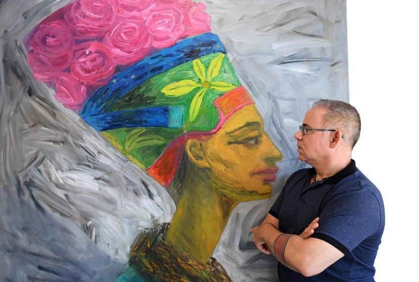 Pese a su preparación académica, su innegable talento y éxito en la escena plástica, Carlos Cancio confiesa que enfrentarse al lienzo siempre es un reto.