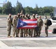 Soldados de la Guardia Nacional de Puerto Rico rumbo a Polonia.