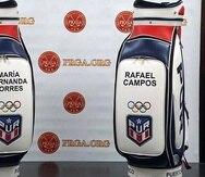 Estos son los bultos que usarán los golfistas boricuas Marifé Torres y Rafa Campos en Tokio 2020.