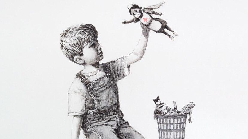 Banksy reapareció en el metro de Londres para su última obra