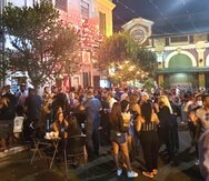 Ambiente en la Placita de Santurce a las 9:00 p.m., el pasado viernes 5 de marzo.