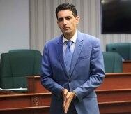 Juan Maldonado cuando acudió el 11 de mayo de 2020 ante la Legislatura para dar explicaciones sobre la compra fallida de pruebas para detectar el coronavirus.