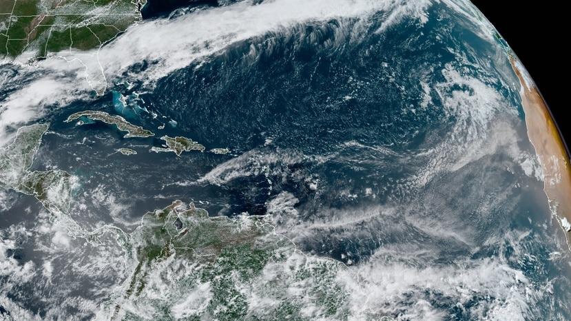 Imagen de satélite que muestra el océano Atlántico este jueves, 13 de mayo de 2021.