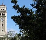 21 de Febrero del 2019  Conferencia de prensa del  presidente de la Universidad de PR Jorge Haddock sobre la acreditacion  del recinto  universitario foto  torre de UPR recinto de Rio Piedras david.villafane@gfrmedia
