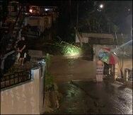 Uno de los sectores en Utuado donde se inundaron las calles por las lluvias del martes, 21 de septiembre de 2021.