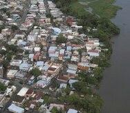 Vista aérea del caño Martín Peña en 2017.