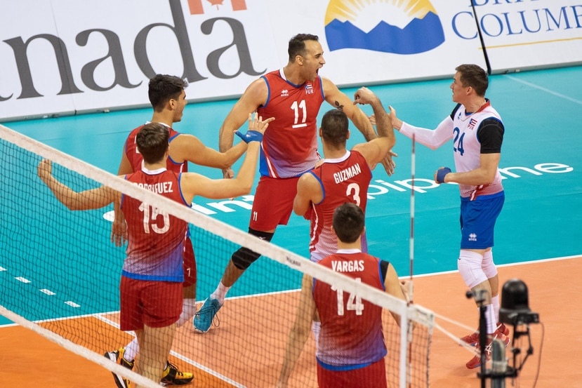 La Equipo Nacional celebra un punto en el encuentro. (Foto/NORCECA)