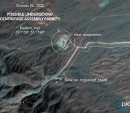 Imagen satelital tomada por Planet Labs Inc., con anotaciones realizadas por expertos del Centro James Martin Center para Estudios de No Proliferación, del Instituto de Estudios Internacionales de Middlebury.
