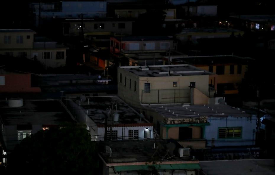 Así se observó la zona de Trastalleres en Santurce.
