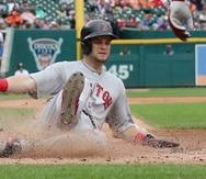 Andrew Benintendi con los Red Sox en 2018.