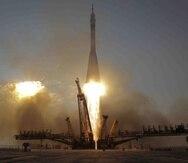 Soyuz partió el jueves desde Kazajistán. (AP)