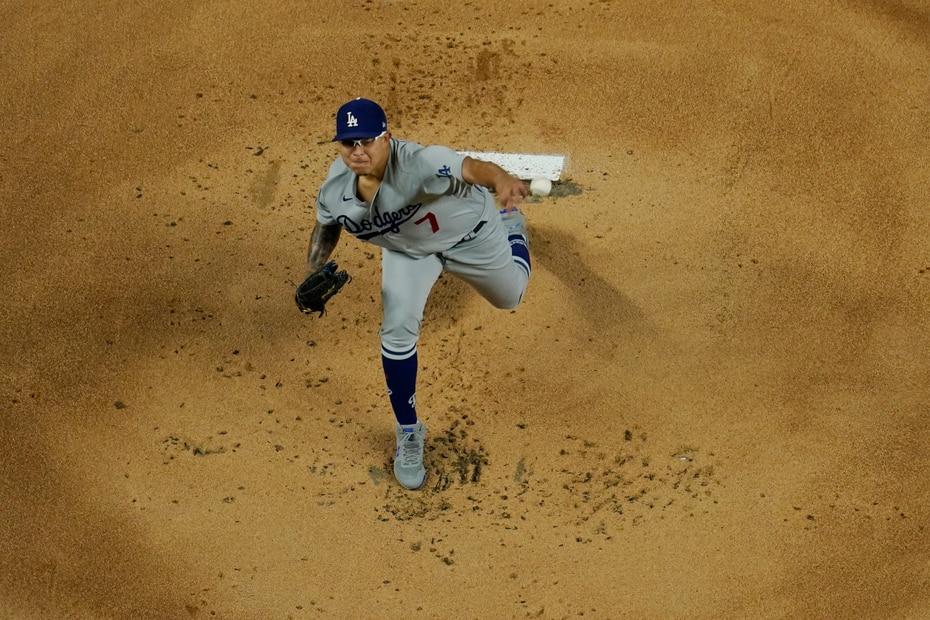 El zurdo mexicano Julio Urías abrió por los Dodgers.