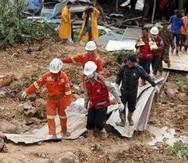 Hay más de 38,000 personas en los centros de evacuación, informó la ONU. (AP)