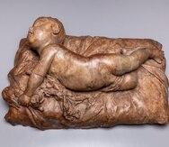 """Obra """"Bebé volteándose"""", de Agustín Querol y Subirats (1864–1909), adquirido por el Museo Meadows de Dallas."""