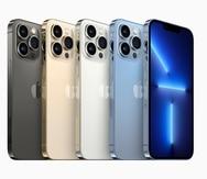 La foto muestra los nuevos colores del los modelos iPhone 13 Pro y iPhone 13 Pro Max.