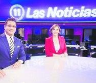 Ricardo Currás y Celimar Adames Casalduc son los presentadores de Las Noticias.