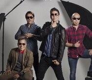 La banda de rock en español Los Rabanes está compuesto por, de izquierda a derecha: Carlos Cuevas, Javier Saavedra, Emilio Regueira y Christian Torres.