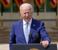 El presidente de Estados Unidos, Joe Biden, habla desde el jardín de las rosas en la Casa Blanca.