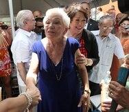 Celina Báez Sotomayor junto a su hija, la jueza del Supremo federal, Sonia Sotomayor.