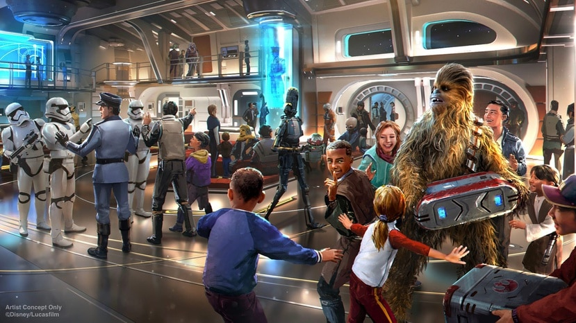 Star Wars: Galactic Starcruiser at Walt Disney World Resort in Florida will invite guests aboard the Halcyon, a starcruiser known throughout the galaxy for its impeccable service and exotic destinations. When they arrive onboard, guests will step into