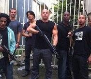 """Parte del elenco """"Fast Five"""" -filmada en Puerto Rico- que incluyó a Vin Diesel y los cantantes Tego Calderón y Don Omar."""